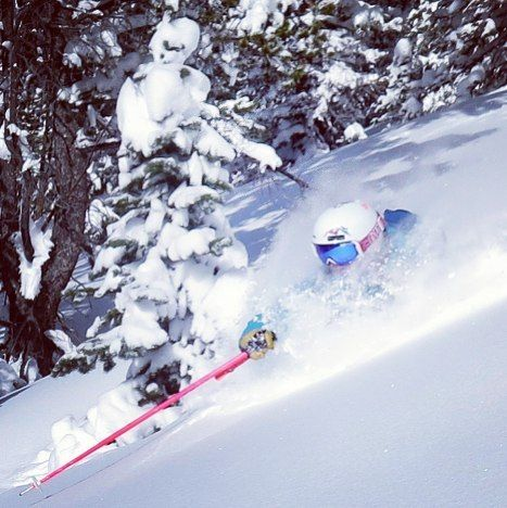 Here's to hoping that this next snow cycle to bring a serious dousing of white gold to Colorado. We need more days like this! Powder = happy skier This one is from one of the deepest and most luscious days ever just last year on Monarch Pass. Skier: Alex Riedman (@alexriedman). PC: Brittany Konsella (@brittanykonsella) #14erskiers #ski #skiing #iskicolorado #powder #winteriscoming #winter #whiteroom #powderskiing #deepestday #colorado