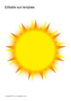 Editable sun templates