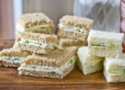 The Barefoot Contessa's Herbed Goat Cheese & Cucumber Sandwiches: perfect for finger sandwiches at a bridal/baby shower. Tip: these are even better made ahead so the flavors can develop.