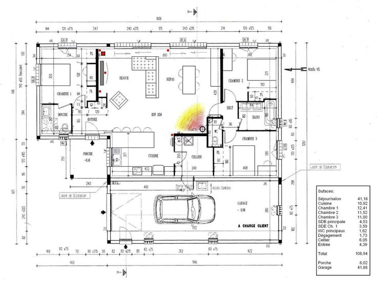 Super Plan Maison Gratuit 4 Chambres Mc04 | Montrealeast