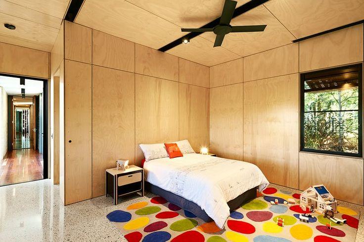 Hoop Pine Plywood Walls And Ceilings In Kids Pod