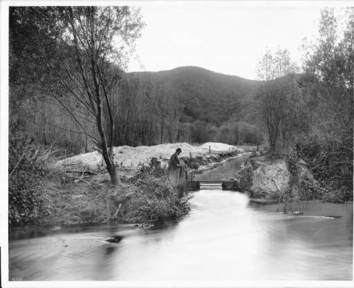 Los Angeles River at Griffith Park, ca.1898-1910 :: California Historical Society Collection, 1860-1960