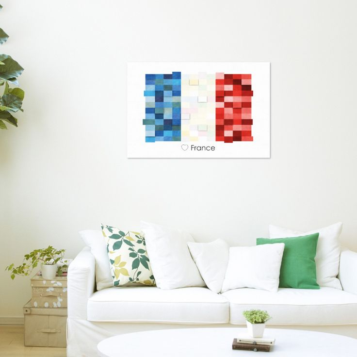 Poster Print Wall art France Flag Europe