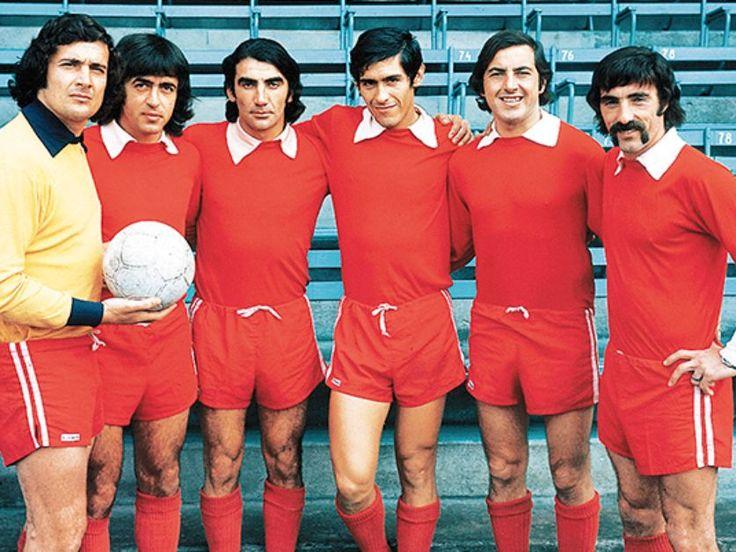1973 Independiente de Avellaneda. Miguel A.Santoro, Eduardo A. Comizo. Miguel A.Lopez, Francisco P. M. Sa, Luis Garisto. Ricardo E. Pavoni.