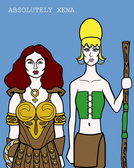 Did you know originally Patsy and Edina were cast as Xena and Gabrielle?