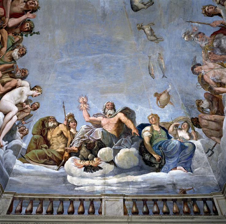 Albani Francesco Sala di Fetonte, 1606-1610 affresco Palazzo Giustiniani Odescalchi, Bassano Romano