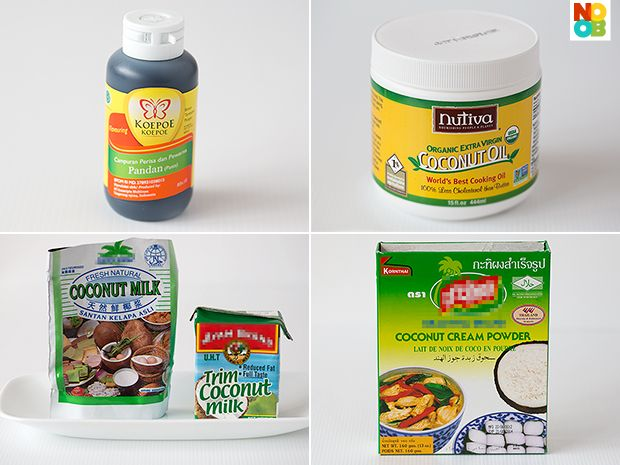 Ingredients for Pandan Waffles RecipeWaffles Recipe, Pandan Waffles, Waffle Recipes