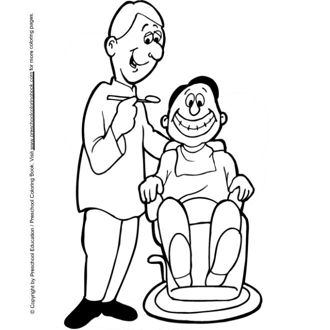 dental coloring page