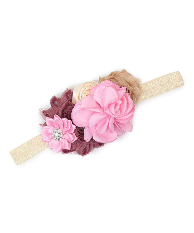 Loving this Mauve & Pink Flower Headband on #zulily! #zulilyfinds