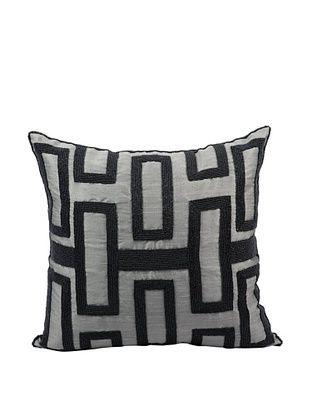 Joseph Abboud Interlock Pillow, Grey/Black, 16