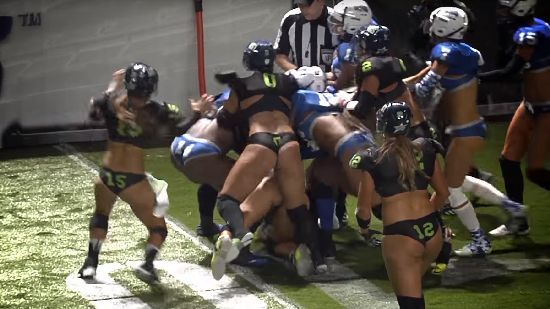When Lingerie Football Gets Too Real