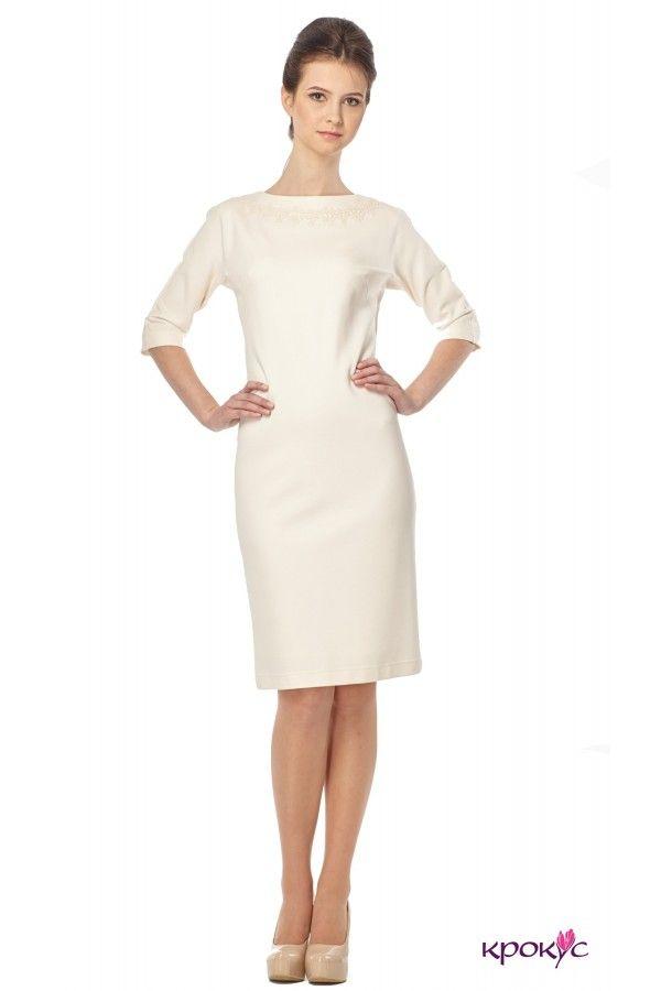 Платье футляр весна-осень - крокус - женская одежда - проиводитель