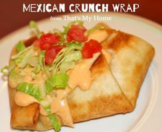 Mexican Crunch Wrap - Clone of the Taco Bell Crunch Wrap, only better! Sure to become a family favorite. Recipes, Food and Cooking
