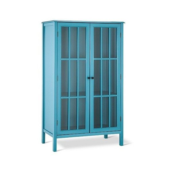 Windham Library Storage Cabinet Teal ($230) ❤ liked on Polyvore featuring home, furniture, storage & shelves, blue, modern furniture, colored furniture, teal furniture, modern home furniture and teal blue furniture