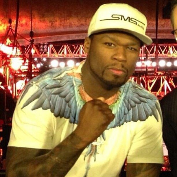 50 Cent wearing Marcelo Burlon tee