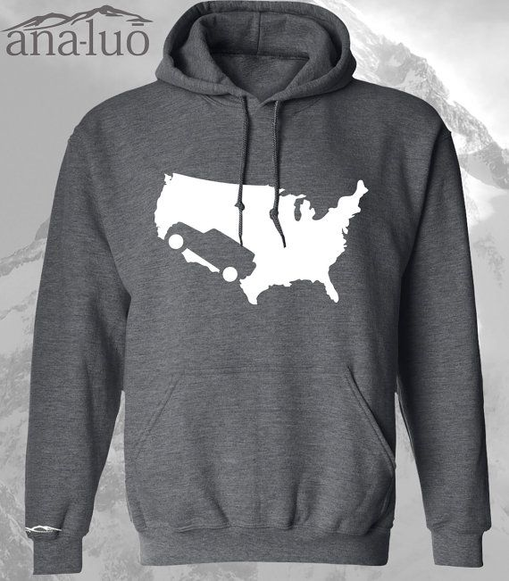Jeep Hoodie USA by Analuo on Etsy