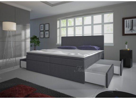Boxspring Sona is zeer compleet, heeft een moderne uitstraling en staat garant voor een comfortabele nachtrust. Dit model bestaat uit twee stevige boxen. De boxspring wordt compleet met hoofdbord geleverd en is geheel bekleed met een grijze stof. In het onderstel bevinden zich vier opberglades. https://www.meubella.nl/slaapkamer/bedden/boxsprings/boxspring-sona-grijs-4-opberglades-140x200-cm.html