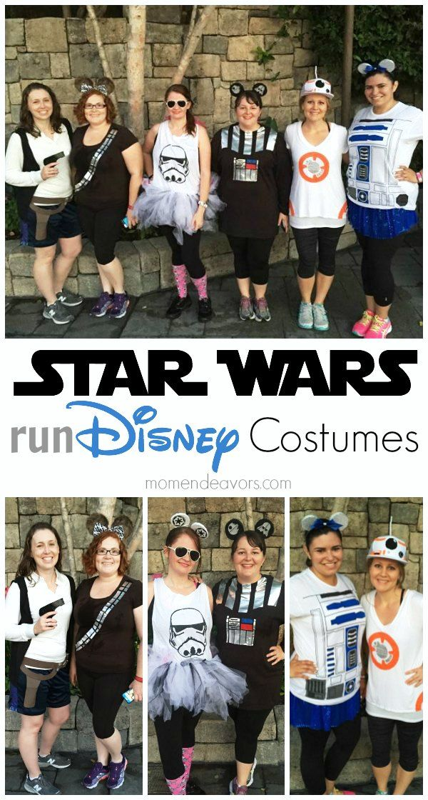 Star Wars Run Disney Costumes - Easy DIY tutorials for these fun Star Wars running costumes!