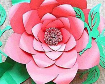 Gigante hibisco flores de papel gigantes por CatchingColorFlies