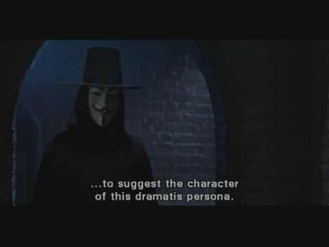 V is for Vendetta - Alliteration - Love the way this clip utilizes alliteration to set the mood of the movie.
