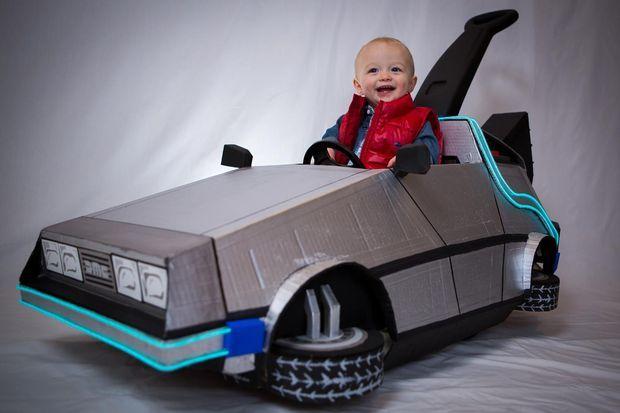 Delorean push car