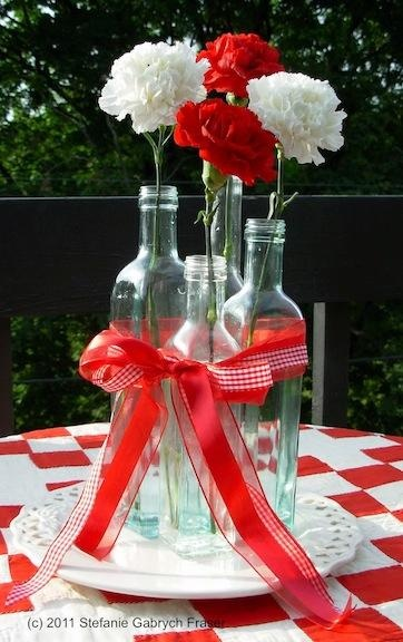 Great flower idea for your outdoor picnic