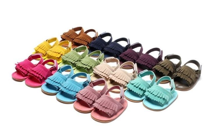 New Summer PU Leather Hard Rubber Sole Baby/Toddler Moccasins Anti Slip
