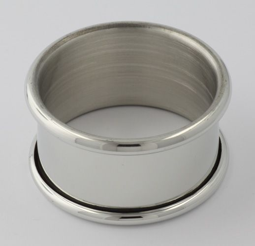 Pewter Napkin Ring w/ Rolled Edge - Made in USA $16.50