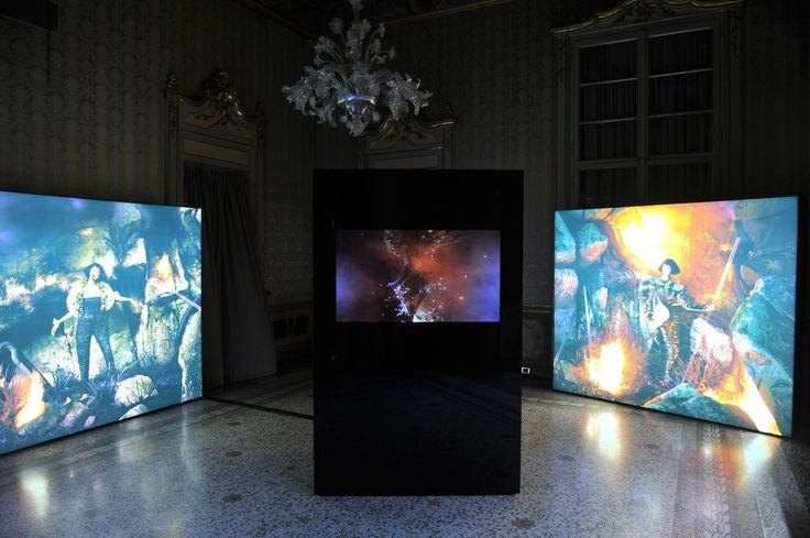 Tribute to Krizia by Flair. Art Direction by Susanna Cucco. Multimedia installation by Jeff Bark.  #flair #krizia #milan #MFW #palazzolitta #fashionweekmilan #fashion #madeinitaly #contemporary #art