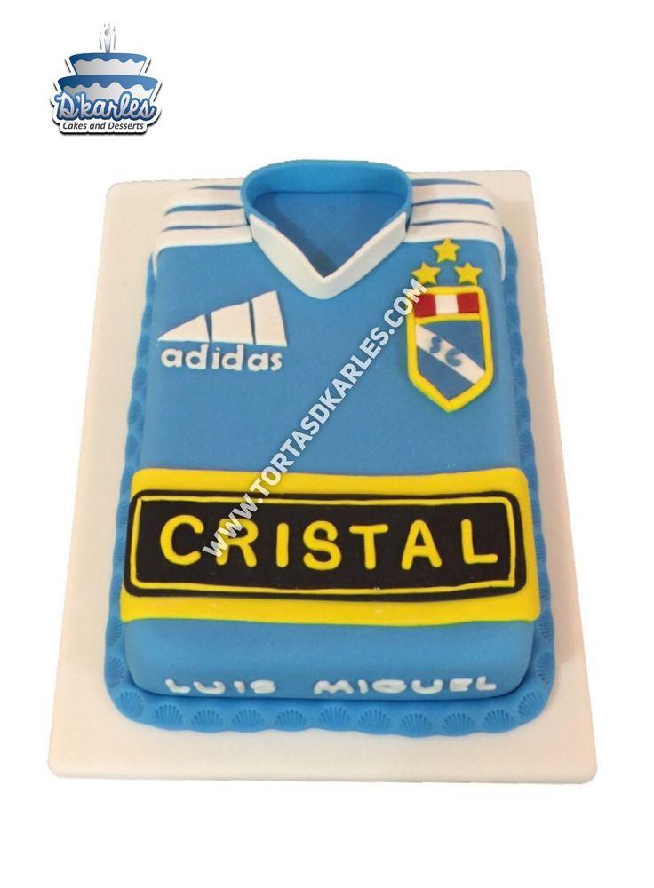 Torta Sporting Cristal, sorprende a nuestro hincha SC con esta torta en forma de camiseta, prepara todos los detalles a tu gusto.