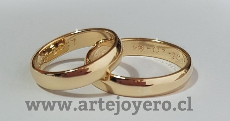 Argollas media caña 4 mm oro 18 k , 10 gr el par $ 380.000 www.artejoyero.cl