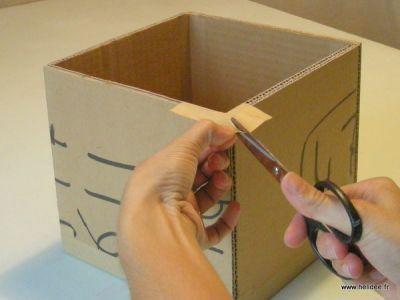 Boîte en carton avec couvercle, Tuto cartonnage - Loisirs créatifs