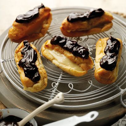 Mini éclairs recipe. For the full recipe, click the picture or visit RedOnline.co.uk