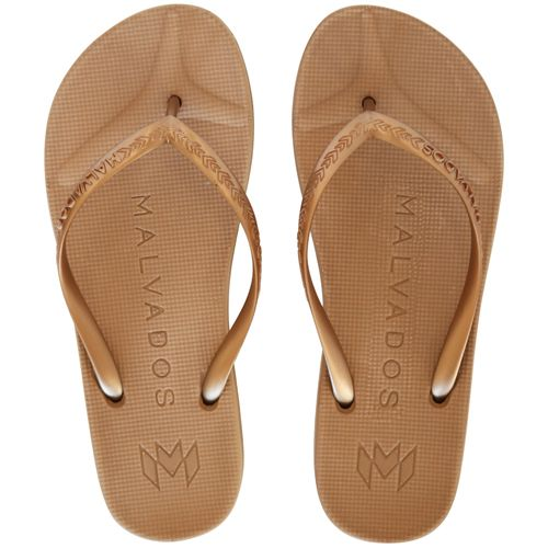 Malvados Playa in Tequila Sunrise color for extra cushiony comfort flip flop with molded footbed