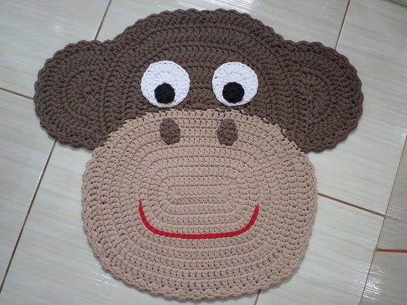 Jogo de Banheiro Macaco em Crochê 3 pç                                                                                                                                                      Mais