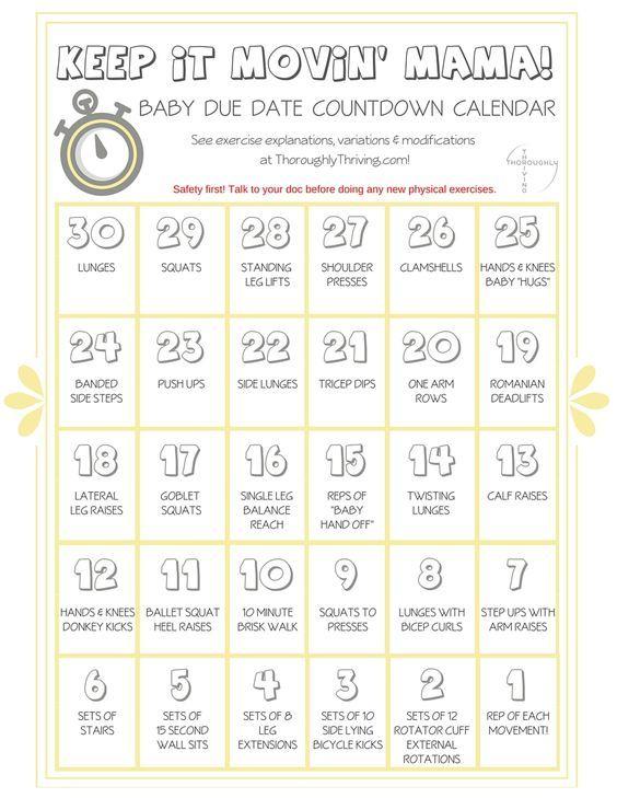 pregnancy calendar countdown