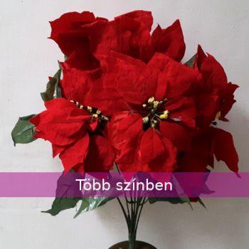 Bársony mikulásvirág csokor 9 virággal