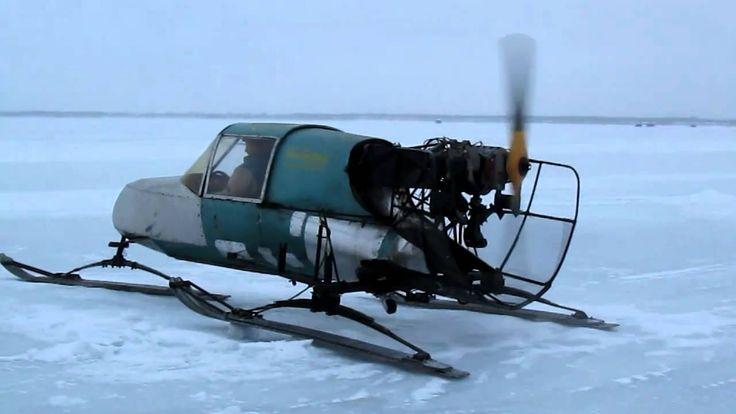 Jon bjornstad and his snowplane power plane old