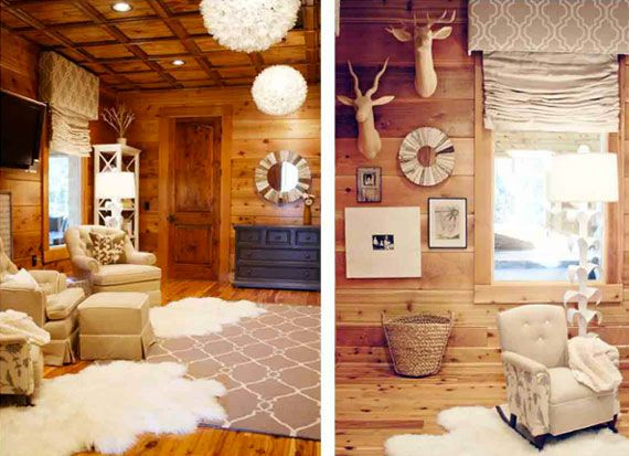 cabin nursery - I absolutely ADORE the heck out of this nursery, as I'm sure Loren will too. SOLD! [Santino]