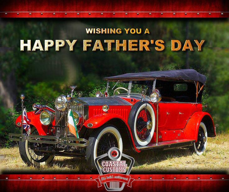 Treat your father like a #MuscleCar this #FathersDay even if he is a bit of a #ClassicCar. #CoastalCustoms