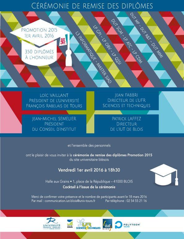 Invitation par mail de la cérémonie de remise des diplômes réalisée par Meslet Julie