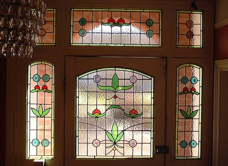 Surprising Front Door Stained Glass Designs Contemporary Exterior