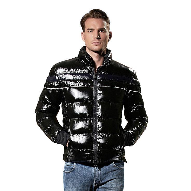 NXH Mens Down Jacket Winter Coat  Premium Coldproof Nylon Black Stylish Parka Coats Sale Quilted Puffer Short Jacket