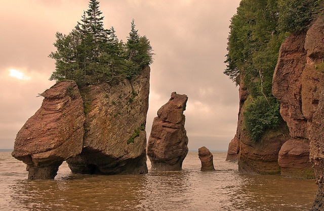 Hopewell Rocks - Flower Pot Rocks - Lovers Arch at High Tide - New Brunswick, Canada by Marcus Frank, via Flickr