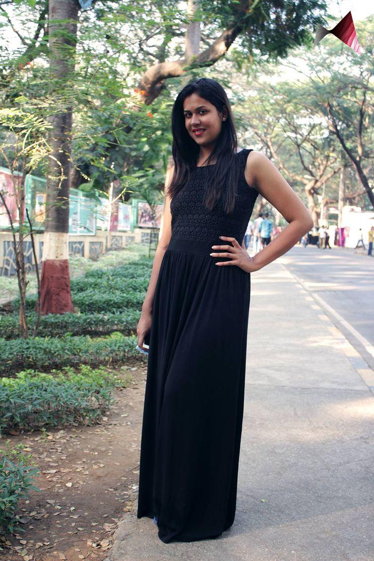 Tanvi Bhalkar - In the classy black, this woman stood out in so many ways! #realpeoplerealfashion @ Mood Indigo, IIT Bombay