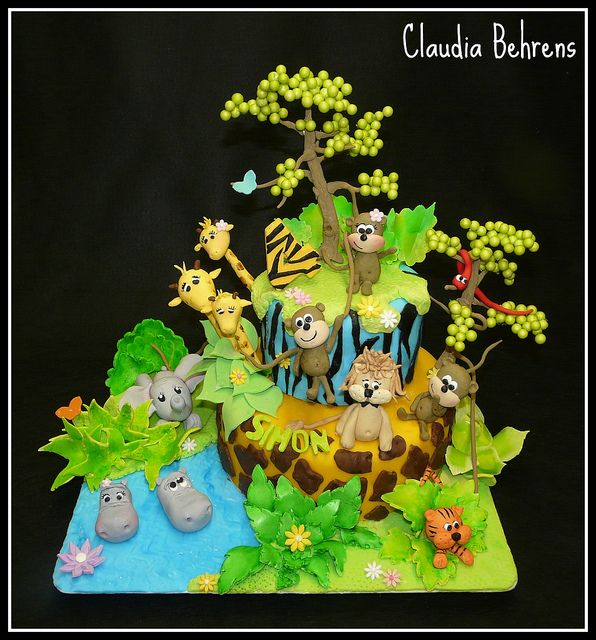 jungle cake simon - claudia behrens by Claudia Behrens ~ Cakes, via Flickr