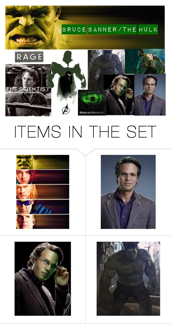 """Bruce Banner"" by emily-dickson-1 ❤ liked on Polyvore featuring art"