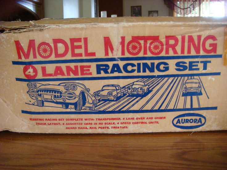Aurora Vibrator Tjet 4 Lane HO Slot Car Set# 1506 Complete w/original Box L/cars