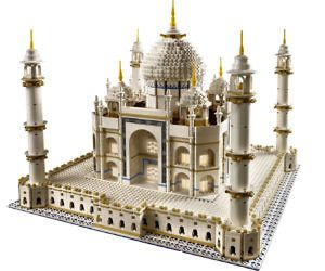 LEGO Taj Mahal Set - LEGOs aren't just for kids – this LEGO Taj Mahal set contains just under six thousand pieces and is not for inexperienced LEGO builders. This highly detailed and time consuming LEGO kit makes a great gift for the master LEGO builder looking for a real challenge.