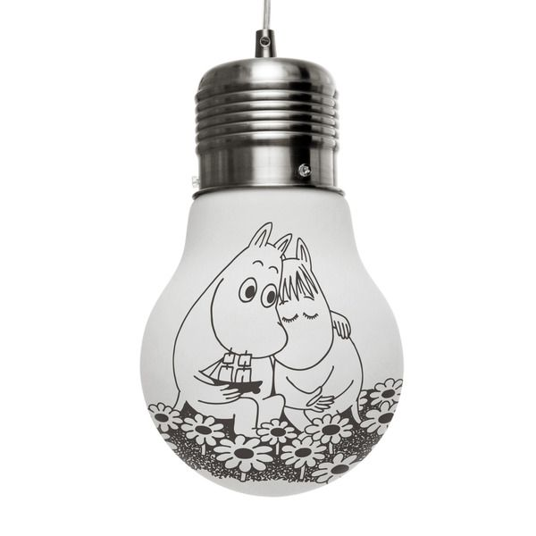 The glow lamp brings Moomintroll and Snorkmaiden to life, and brings them to your home.